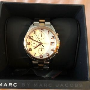 Marc Jacobs watch in silver and rose gold tone